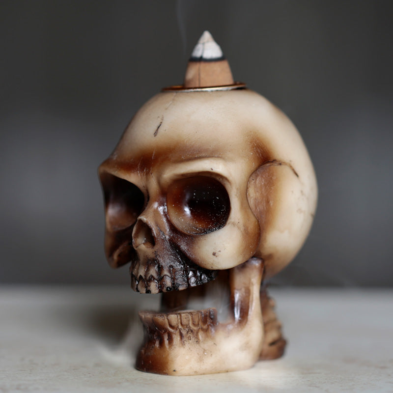 Skull Backflow Incense Burner
