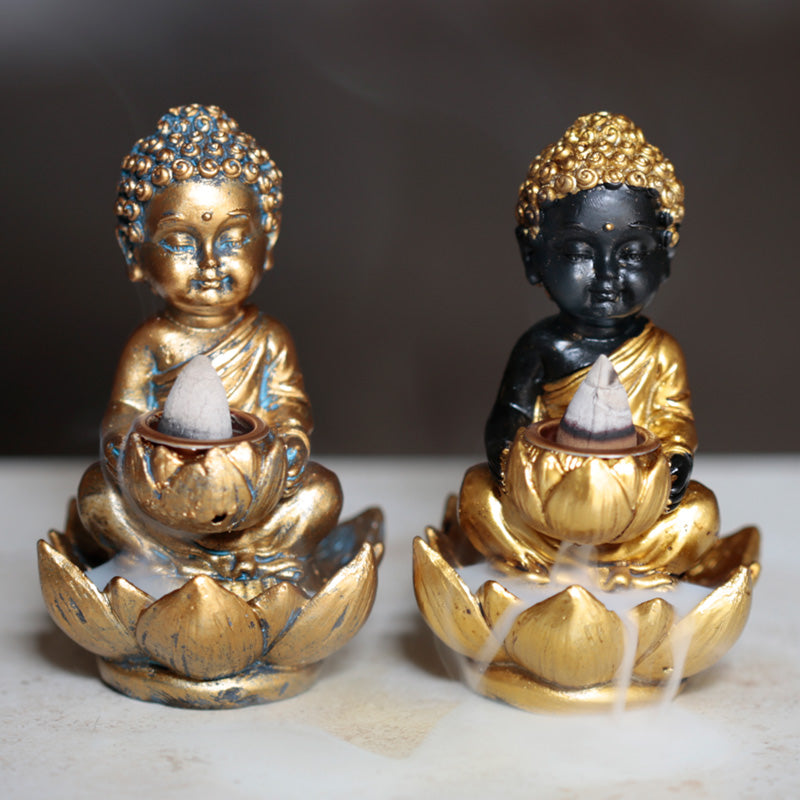 Lotus Little Buddha Backflow Incense Burner