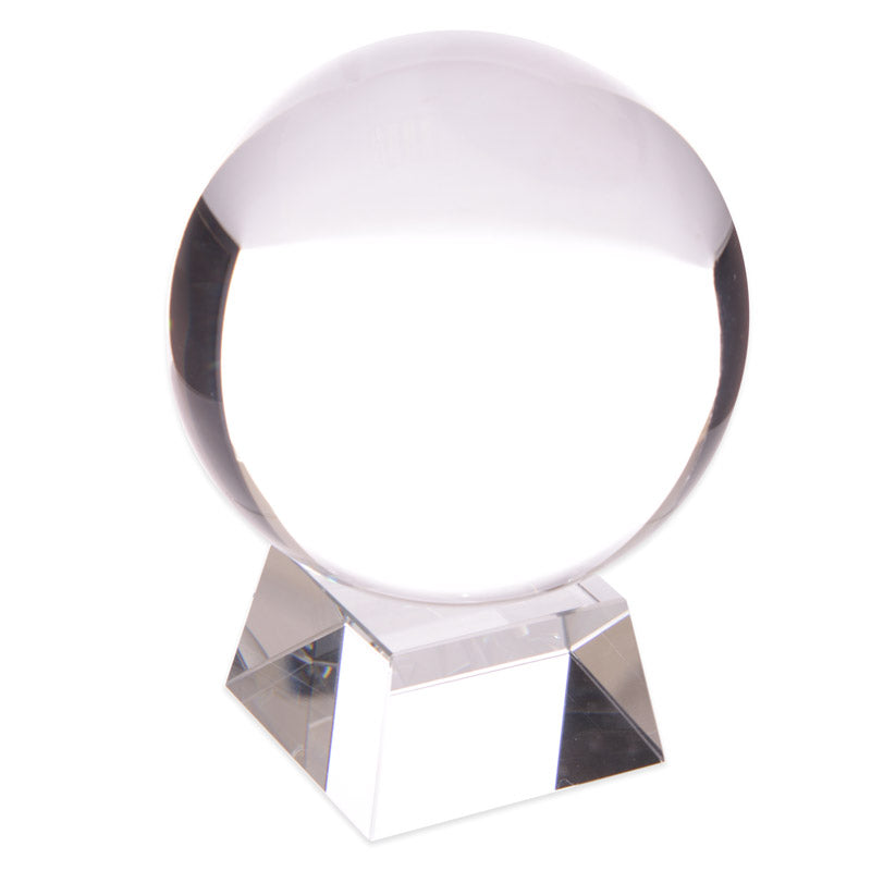 Decorative Mystical Crystal Ball with Stand - 100 mm