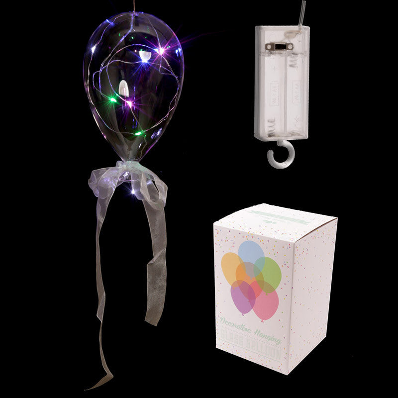 Clear LED Balloon Hanging Decoration - Large