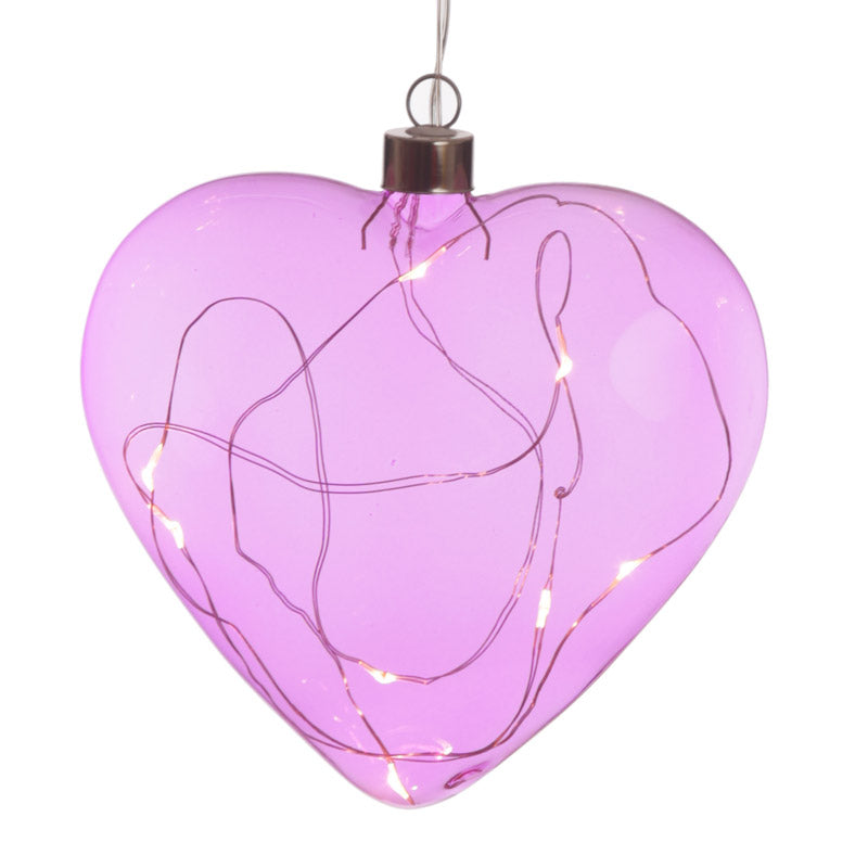 Coloured LED Balloon Hanging Decoration - Medium