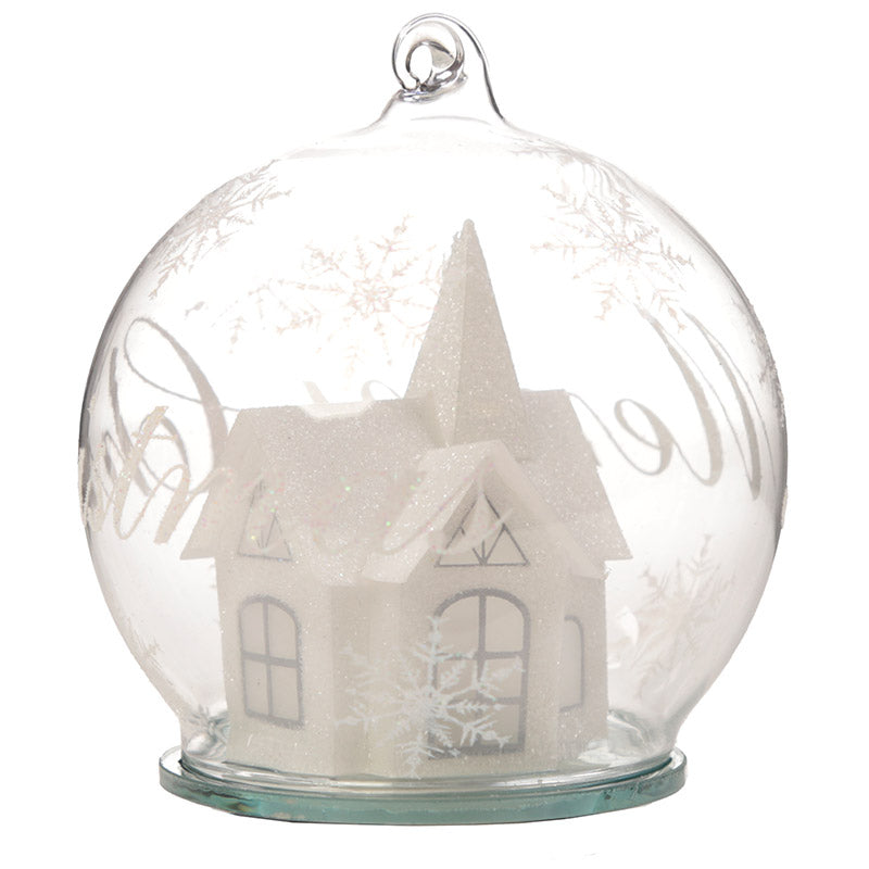 Decorative Winter Wonderland LED Christmas Bauble