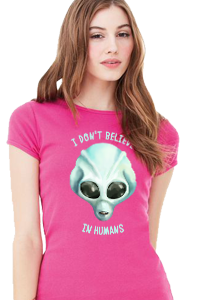 I Don't Believe In Humans Women's Fitted T-Shirts