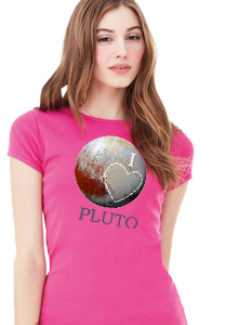 'I Love Pluto' Women's Fitted T-Shirts