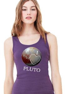 'I Love Pluto' Women's Longer Tank