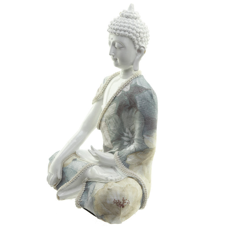 Decorative Floral Thai Buddha Relaxation Figurine