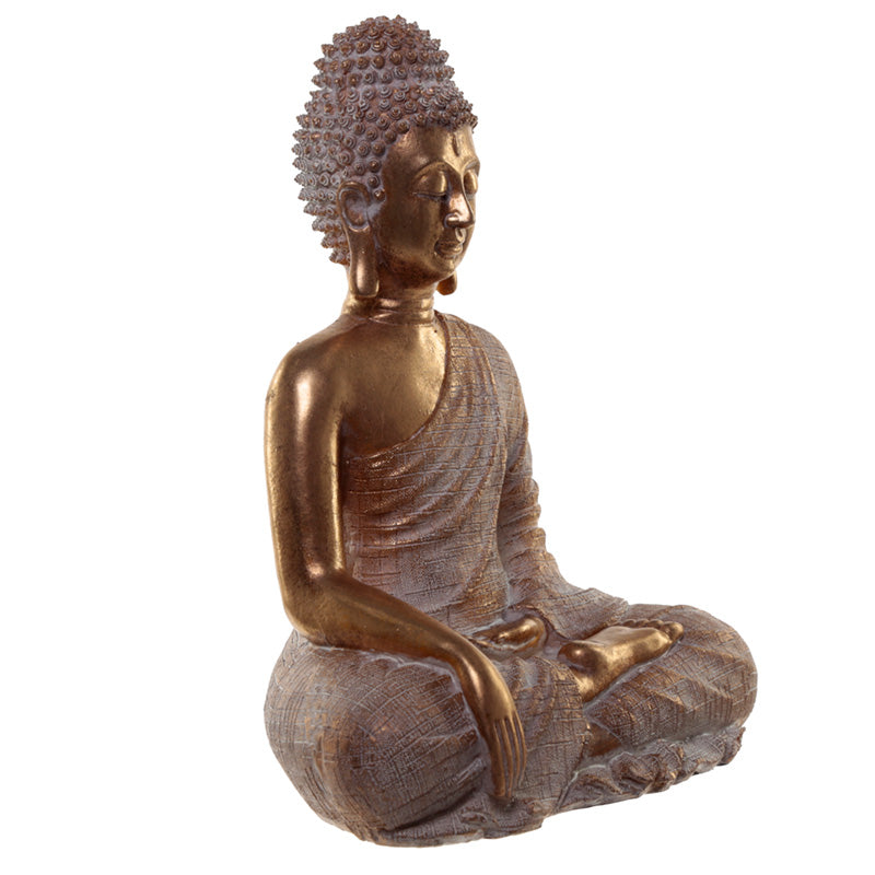 Gold Effect Thai Buddha Statue Enlightenment
