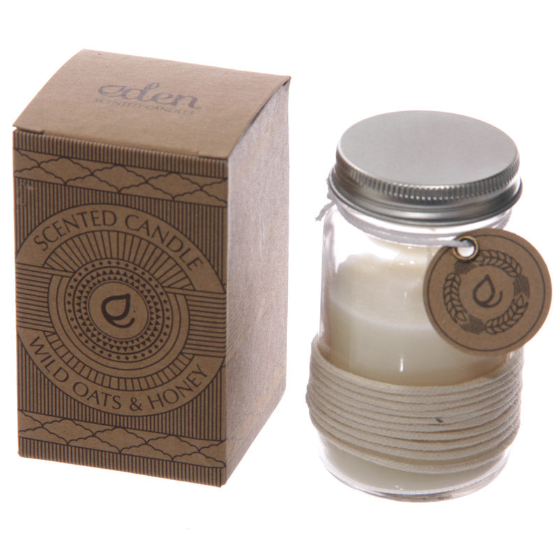 Eden Fragrance Candle Jar - Wild Oats Honey