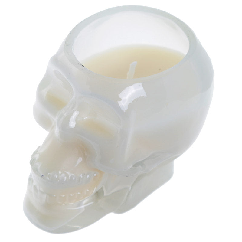 Gothic Fragranced Soya Candle Jar - White Skull