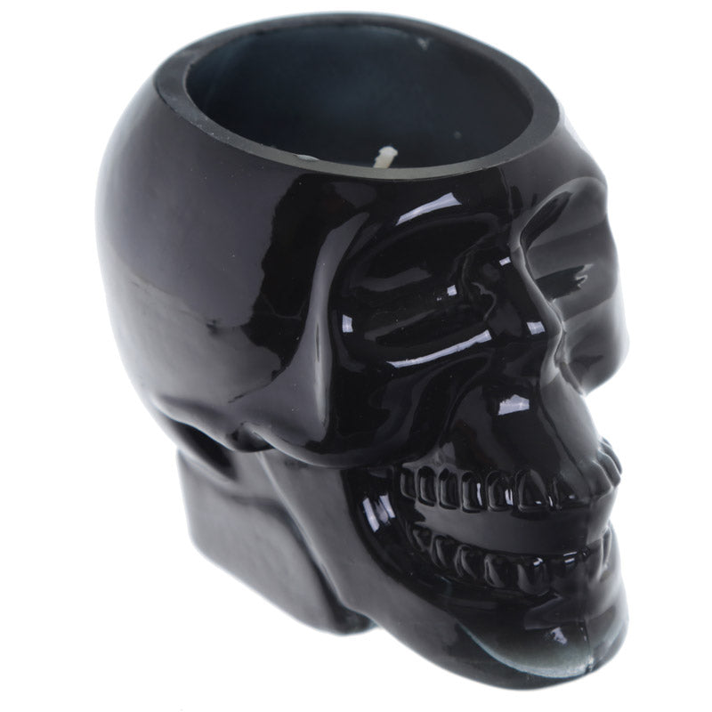 Gothic Fragranced Soya Candle Jar - Black Skull