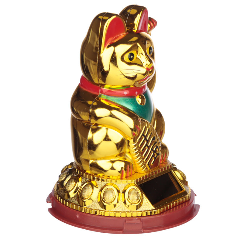 Lucky Waving Maneki Neko Cat Solar Powered Pal