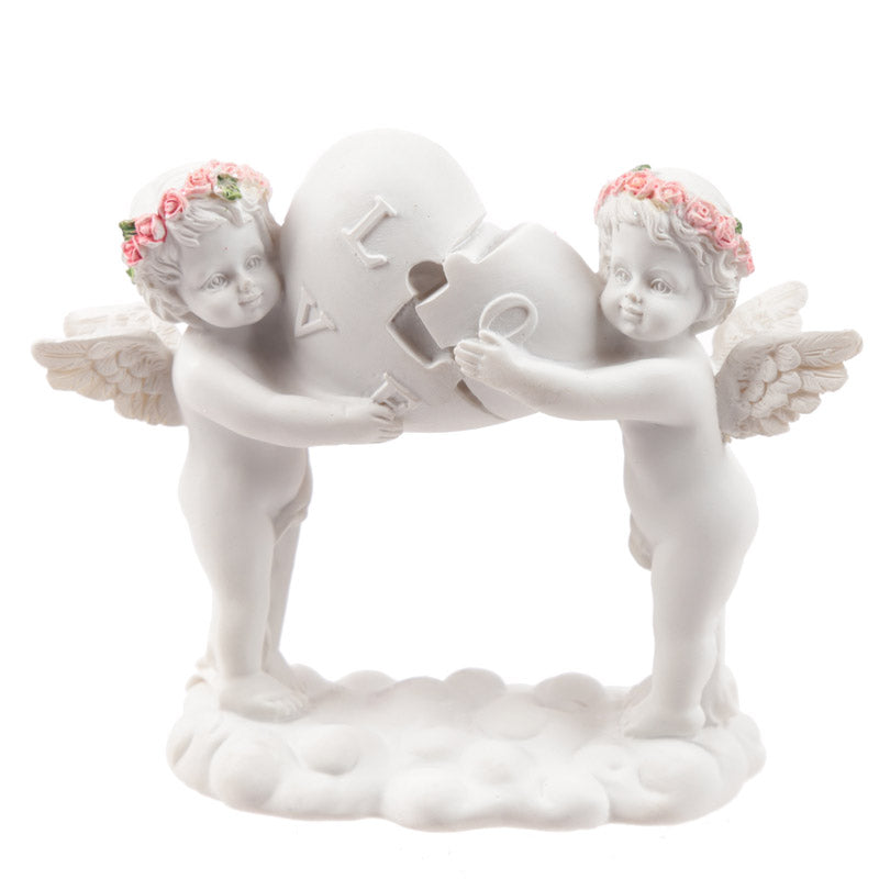 Rose Cherubs - Love Heart Puzzle