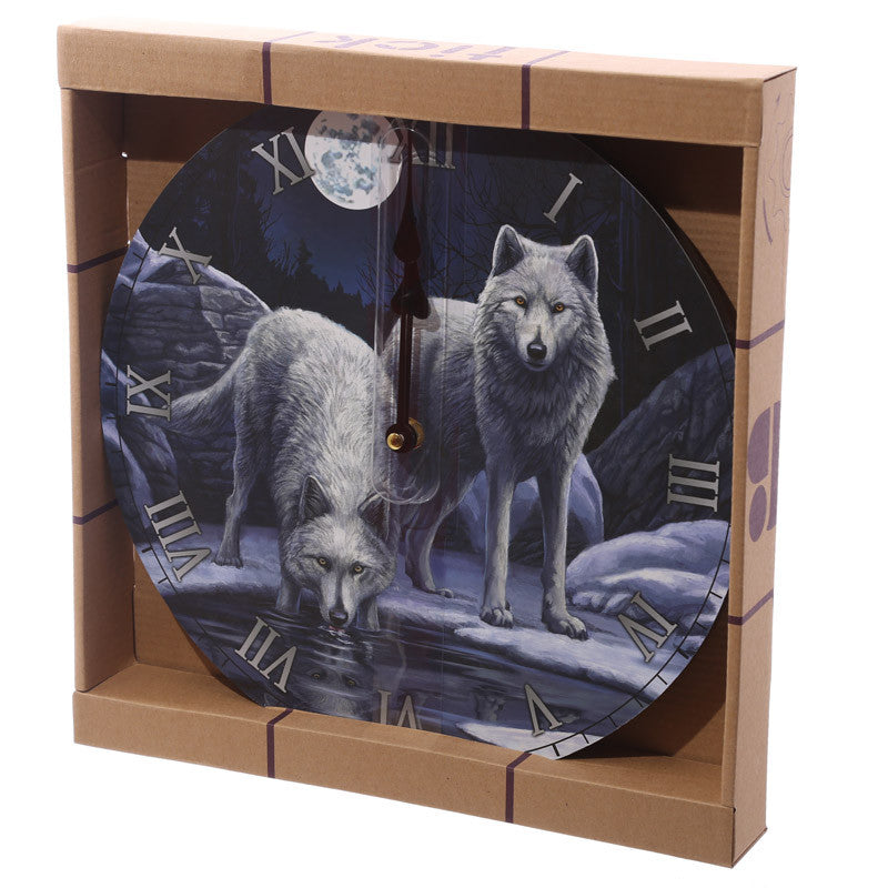 Fantasy Wolf Warriors of Winter Decorative Wall Clock