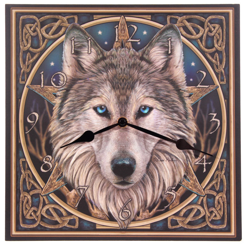 Fantasy Celtic Wolf Head Design Decorative Wall Clock