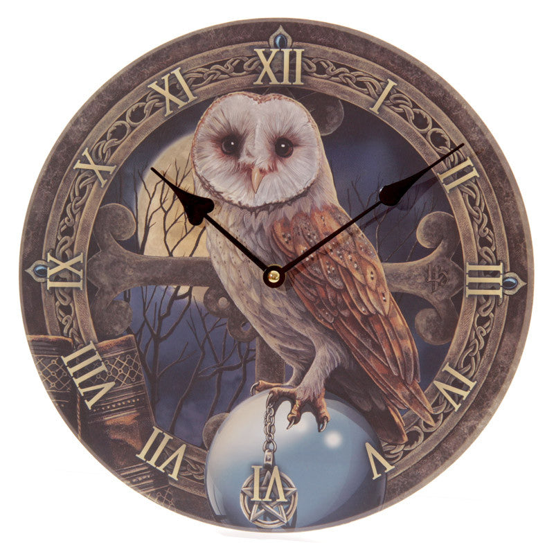 Fantasy Magical Barn Owl Design Decorative Wall Clock
