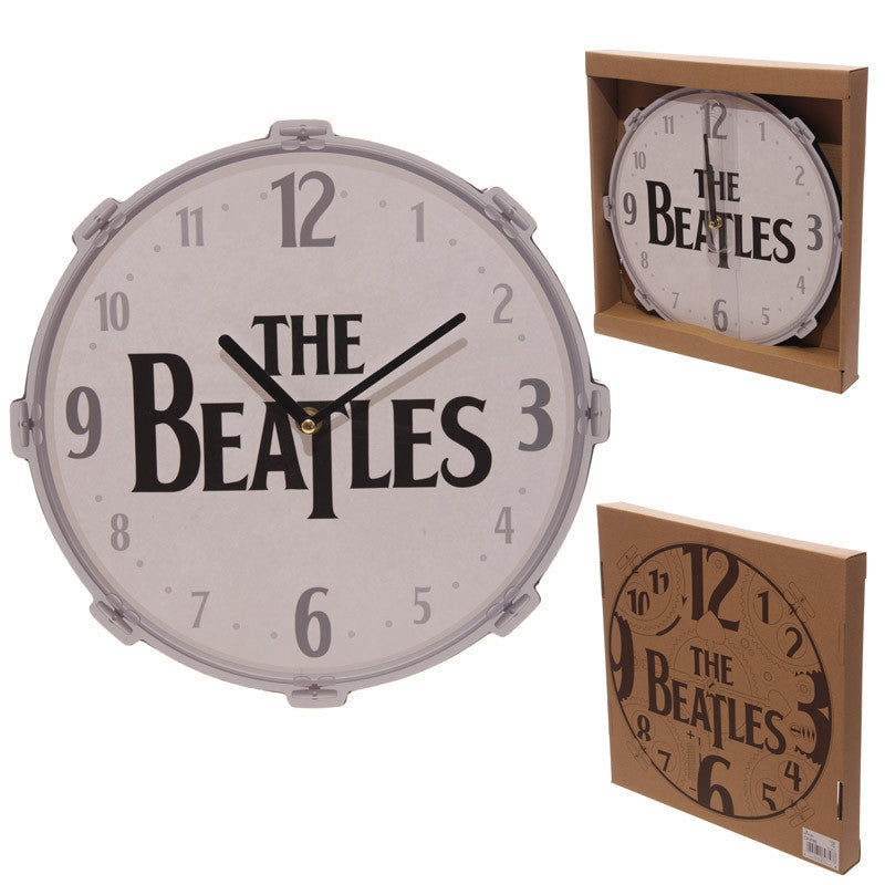 Funky Beatles Drum Design Wall Clock