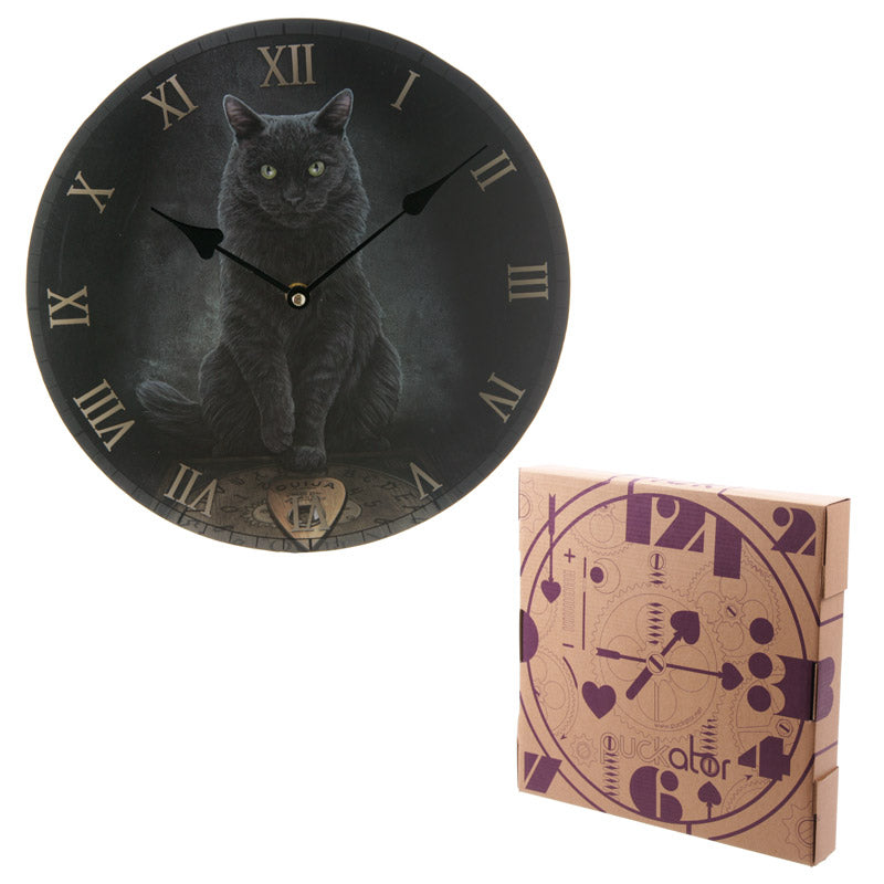 Decorative Fantasy Cat and Ouija Board Wall Clock