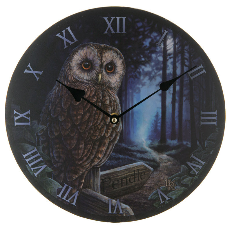 Decorative Owl and Pendle Sign Wall Clock