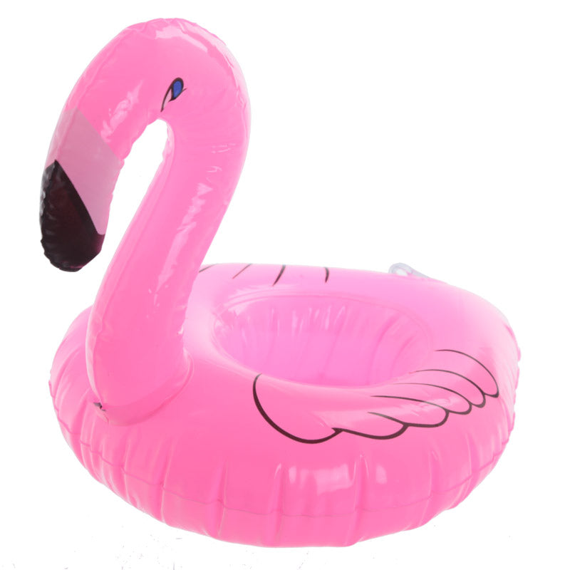 Funky Tropical Inflatable Drinks Holder - Flamingo