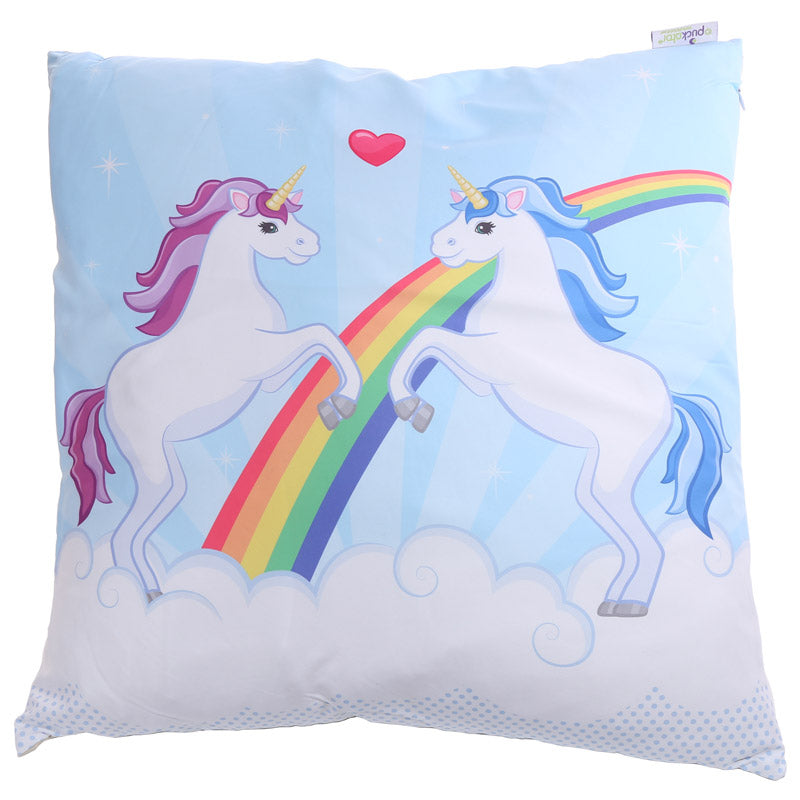 Decorative Unicorn Couple Cushion