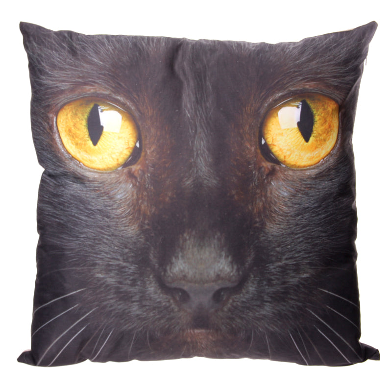 Decorative Mysterious Black Cat Cushion
