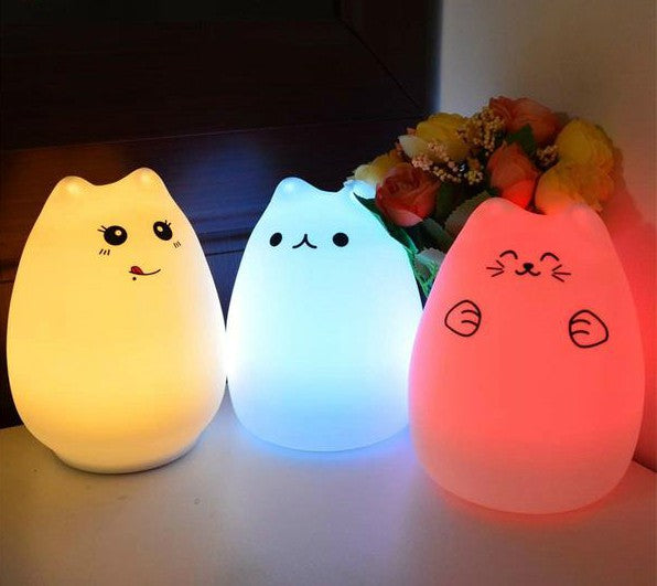 Colour Changing Cat LED Night Light