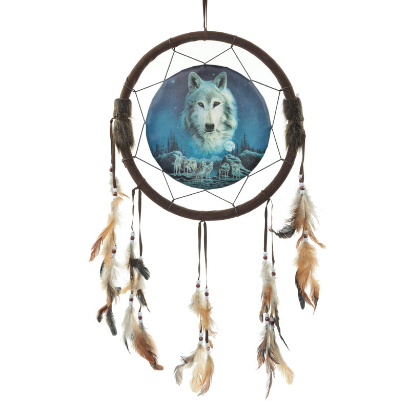 Decorative Wolf Spirit in the Sky Dreamcatcher
