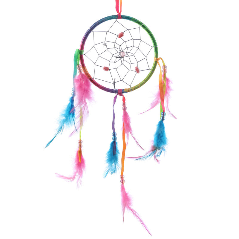 decorative rainbow dreamcatcher