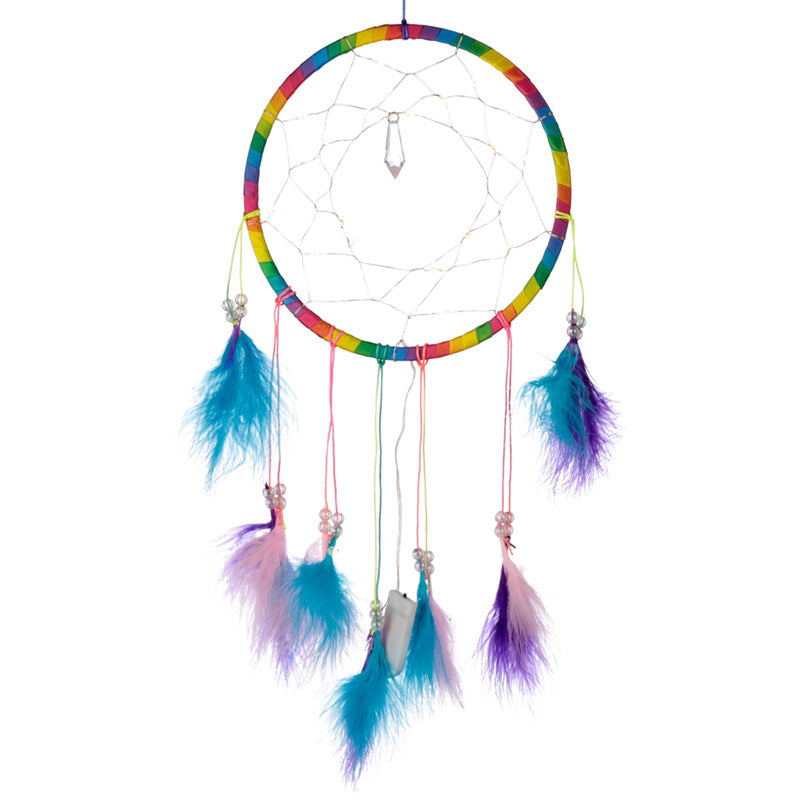 LED Light Rainbow Dreamcatcher