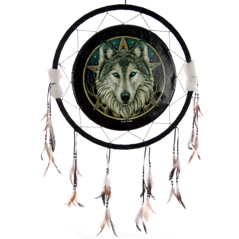 Decorative Celtic Wolf Head 60cm Dreamcatcher