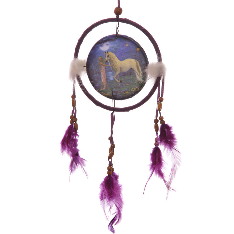 Decorative Fantasy Unicorn Garden 16cm Dreamcatcher