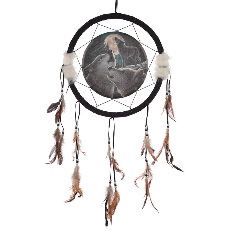 Decorative Fantasy Wolf Family Dreamcatcher