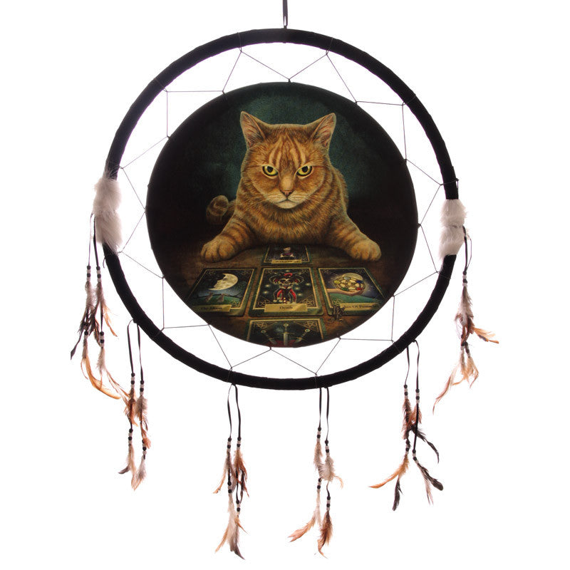 Decorative Fantasy Cat and Tarot Dreamcatcher Large