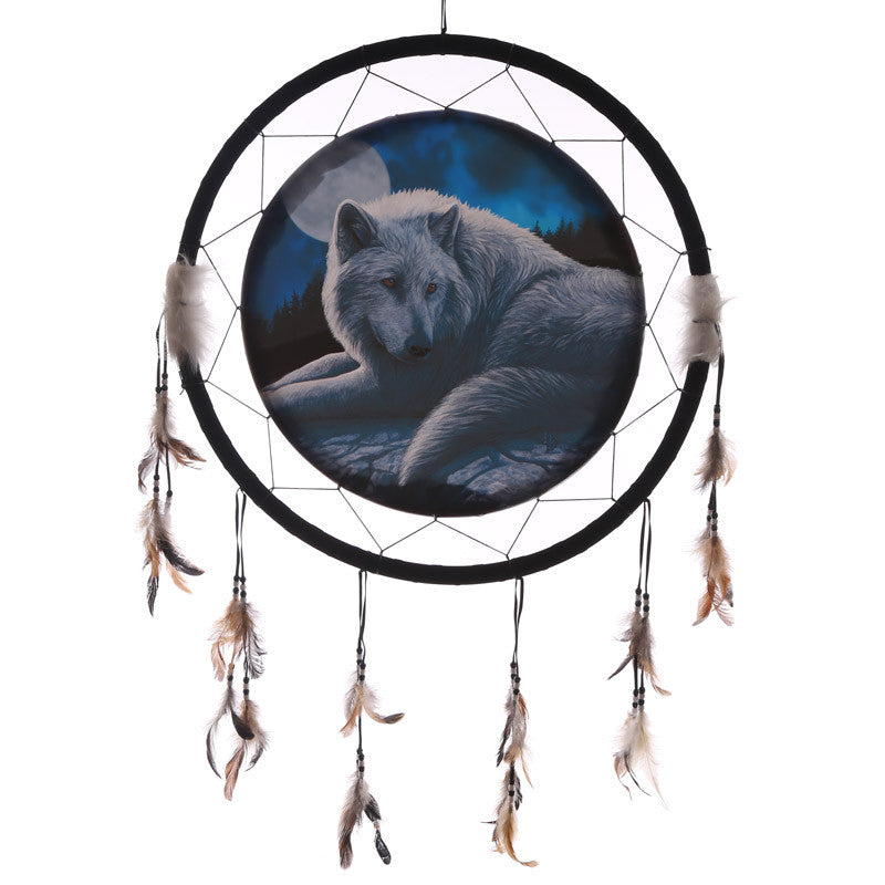 Decorative Guardian Wolf 60cm Dreamcatcher