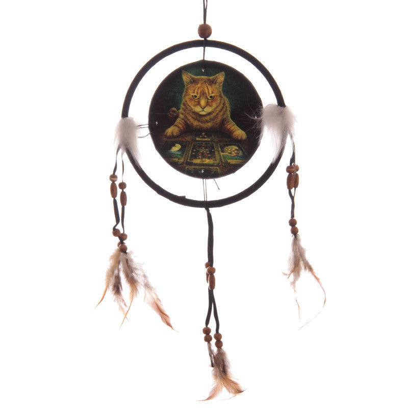 Decorative Fantasy Cat and Tarot Dreamcatcher Small