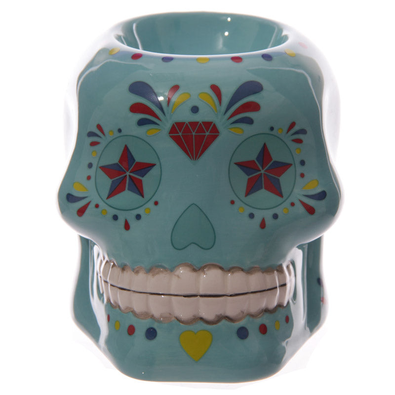 Candy Skull Day of the Dead Ceramic Oil Burner
