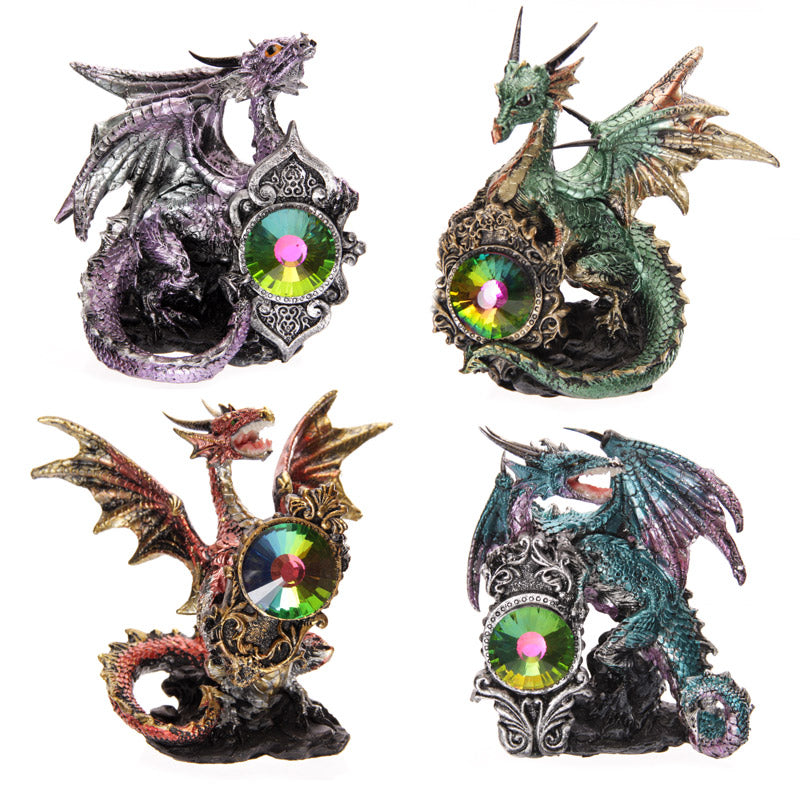 Crystal Shield Fantasy Dragon Collectable Figurine