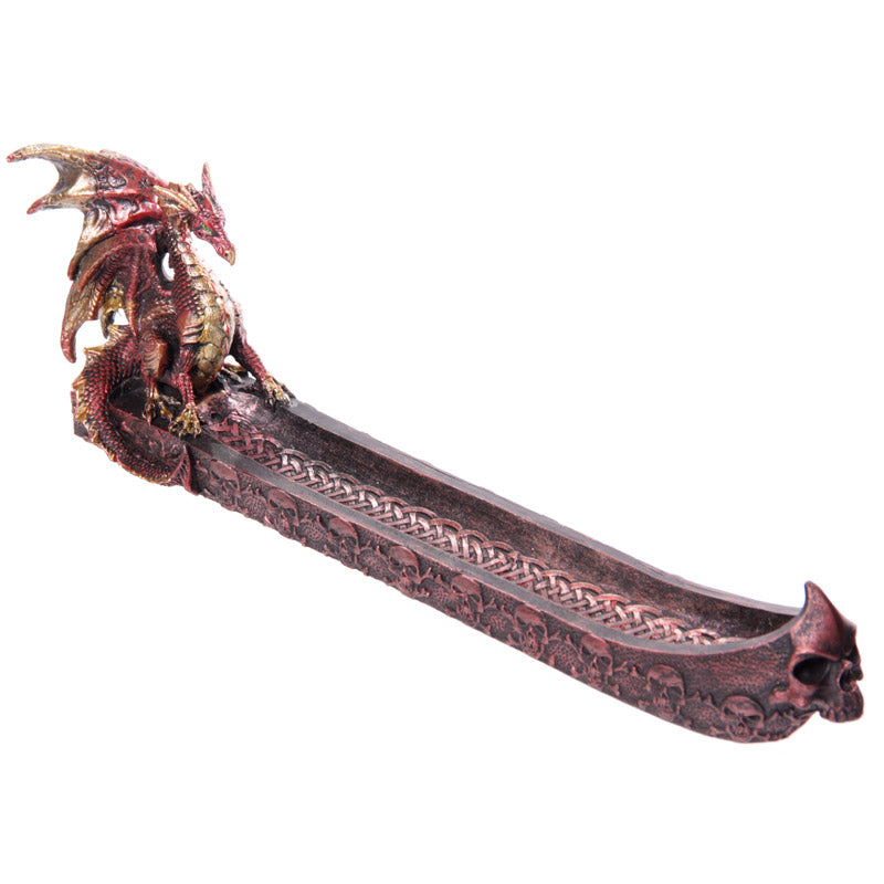 Dark Legends Dragon Incense Ashcatcher Boat