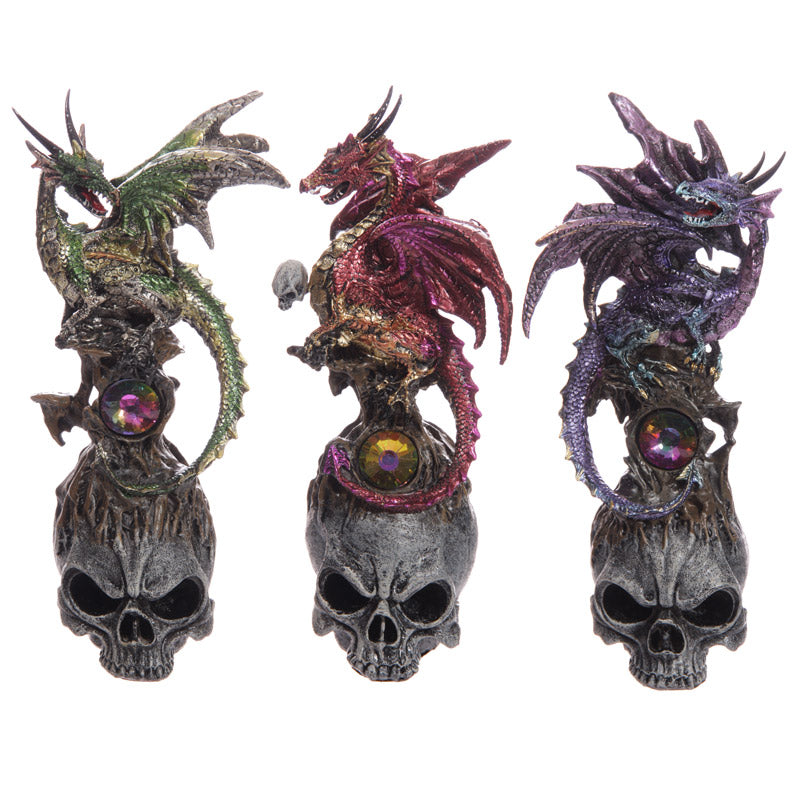 Black Skull Dark Legends Dragon Figurine