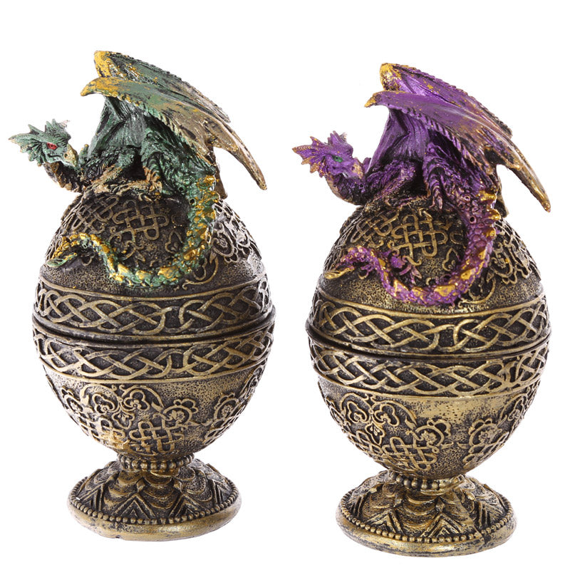 Dragon Egg Trinket Box Collectable Dragon Figurine