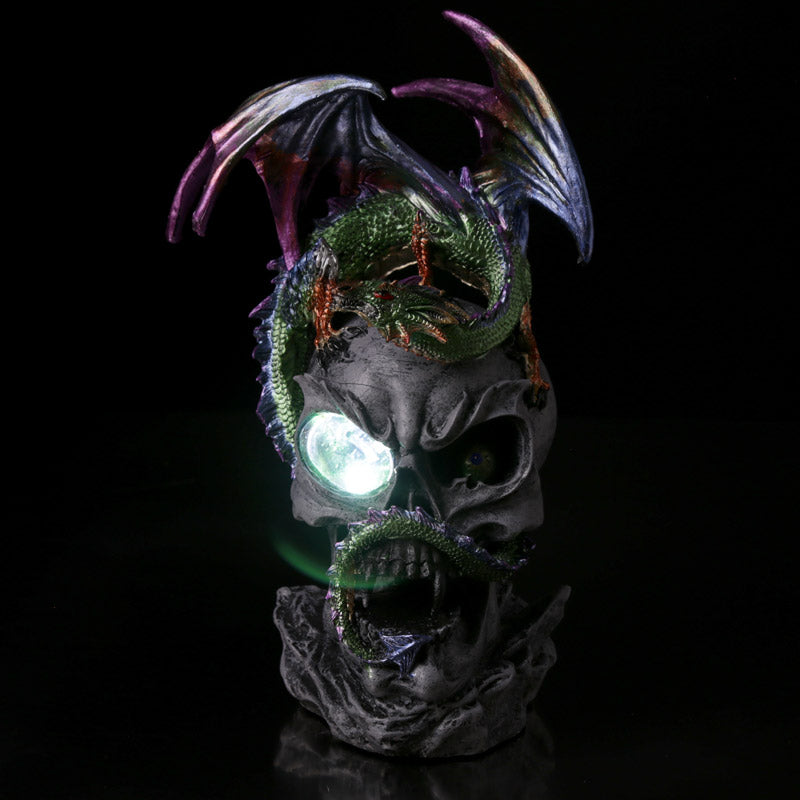 LED Crystal Eye Dark Legends Dragon Figurine