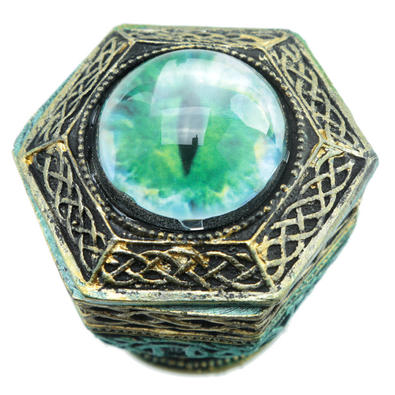 Dragon Eye Hexagonal Dark Legends Trinket Box