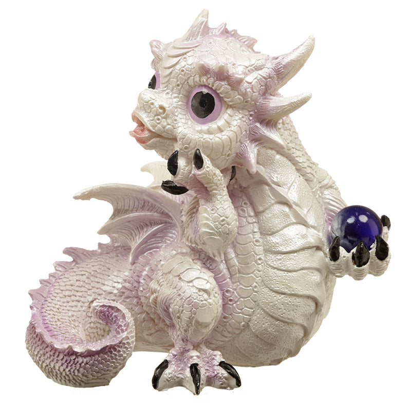 Mystical Dream Fantasy Winter Warrior Dragon Figurine