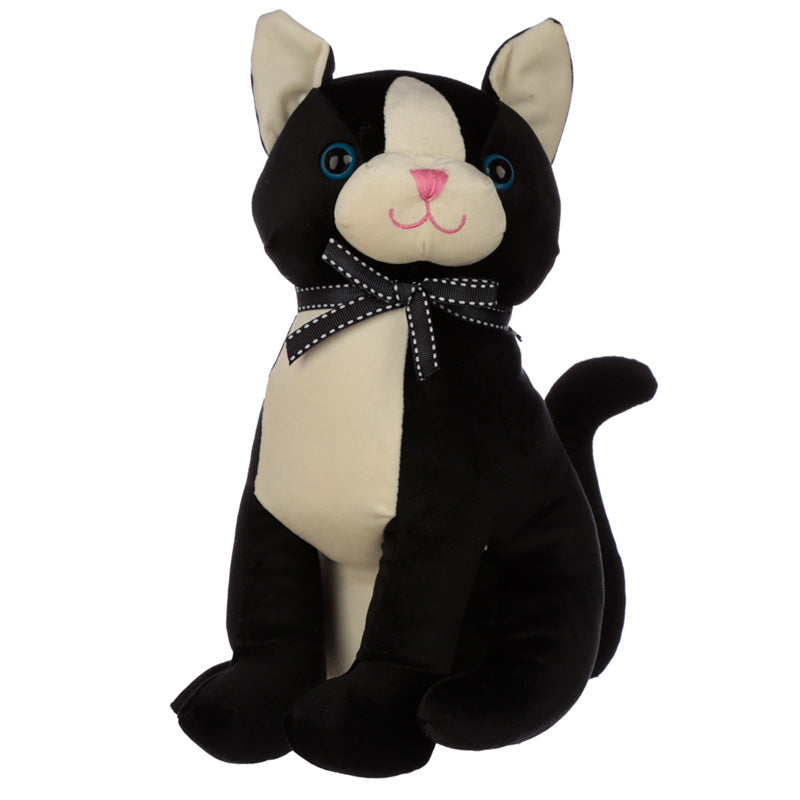 Cute Interior Cat With Ribbon Door Stop