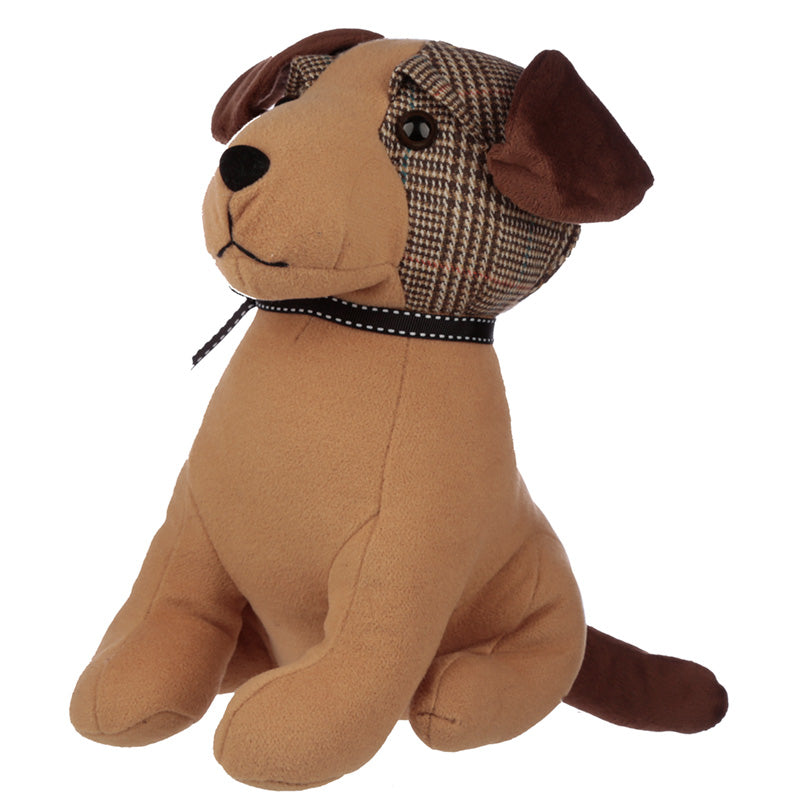 Cute Interior Tweed Dog Door Stop