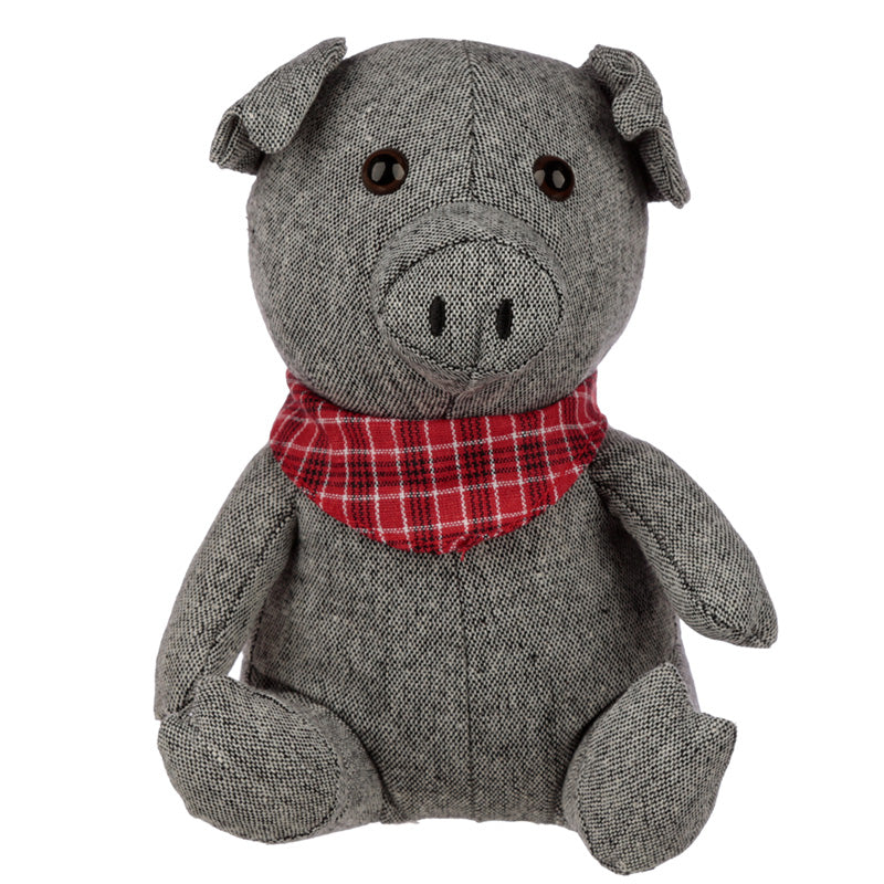 Cute Interior Grey Pig Door Stop