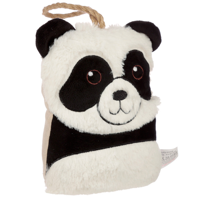 Cute Interior Plush Panda Head Door Stop
