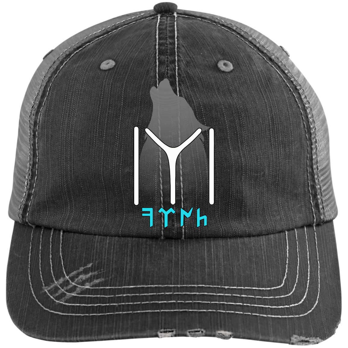 Kayi Tribe Distressed Unstructured Trucker Cap