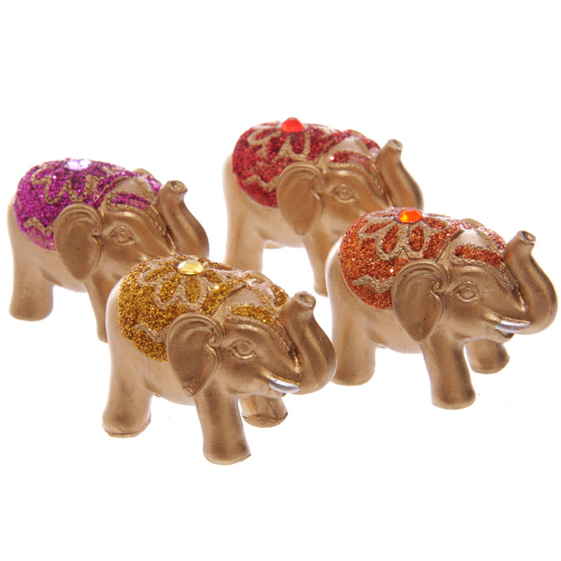 Cute Mini Collectable Glitter Elephant