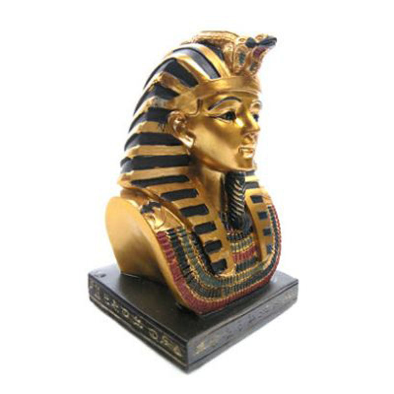 Decorative Gold Egyptian 11cm Tutankhamen Bust